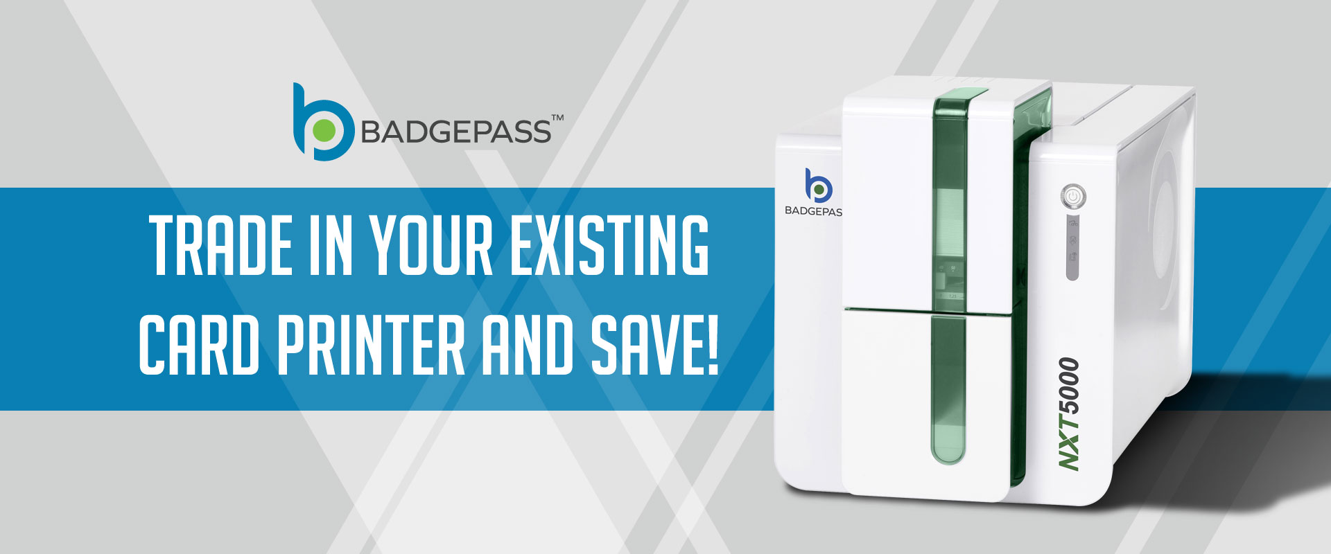 BadgePass Card Printer Promotion Banner Image