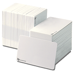 Bundle of stacked plastic proximity cards