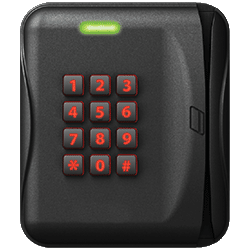 BadgePass Wall Mount Mag Stripe & Keypad Combo Reader (Multi-tech)