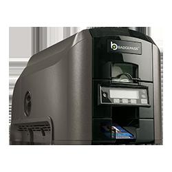 BadgePass right-facing GX1 Card Printer