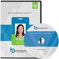 BadgePass Identity Manager Software jewel case and disc