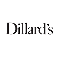 Logotype with text that says Dillards.