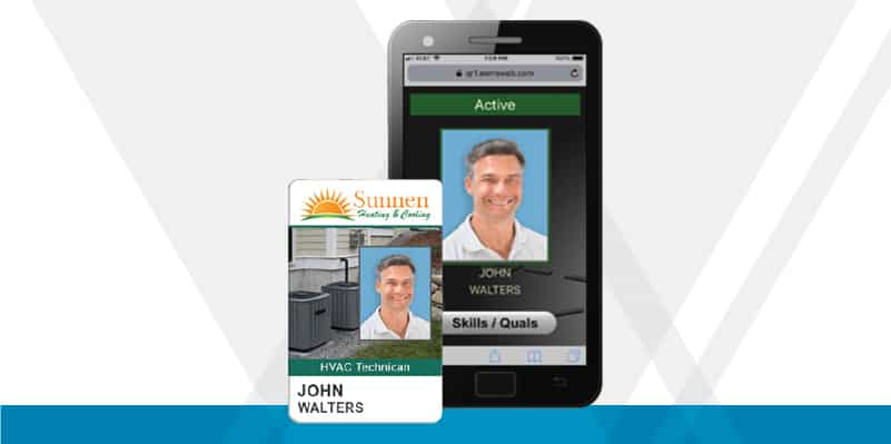 construction credentials on both a badge and mobile device